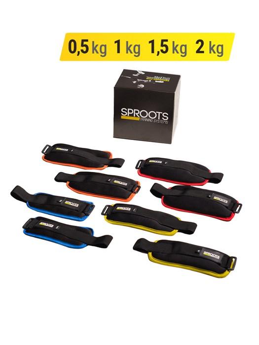 Набор утяжелителей SPR 0.5 кг, 1 кг, 1.5 кг, 2 кг - фото 5882